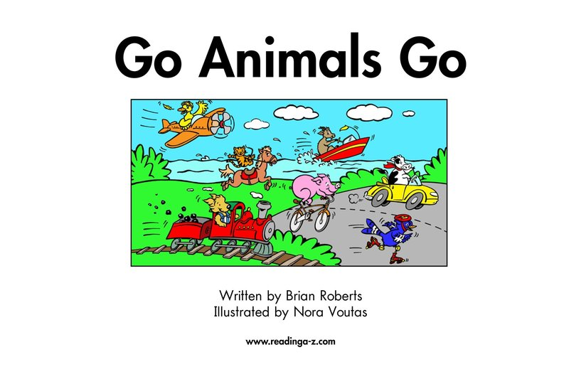 Book Preview For Go Animals Go Page 2